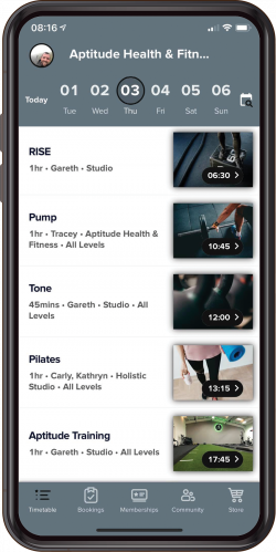 Image of GloFox App for Aptitude Health And Fitness Club based in Farndon near Chester